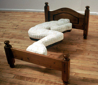 Bed sculpture dominic wilcox Beautiful bedroom chairs that make it a joy getting out of bed